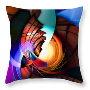 Night In Town Throw Pillow