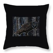 Night Owl - Digital Art Throw Pillow