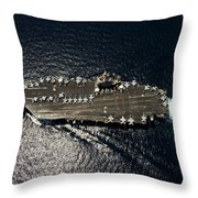 Nimitz Class Aircraft Carrier Uss Throw Pillow