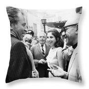 Norman Mailer (1923-2007) Throw Pillow