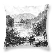 North Carolina, C1875 Throw Pillow