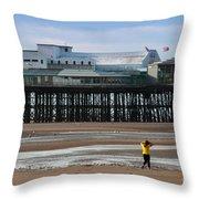 North Pier Throw Pillow