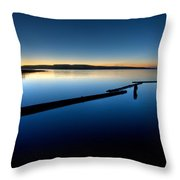 Northern Lake Evening Throw Pillow