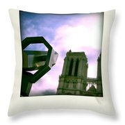 Notre Dame De Paris. France Throw Pillow
