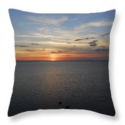 Observation Tower Sunset  Throw Pillow