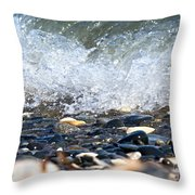 Ocean Stones Throw Pillow