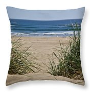 Ocean View With Sand Throw Pillow