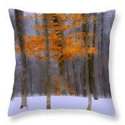 October Flame Throw Pillow