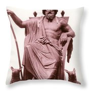 Odin, Norse God Throw Pillow by Photo Researchers