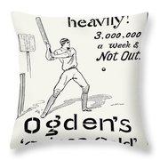 Ogdens Cigarettes, 1897 Throw Pillow