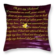 Oh Yes My Beloved Throw Pillow