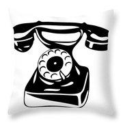 Old Analogue Phone Throw Pillow