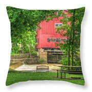 Old Indian Mill Throw Pillow
