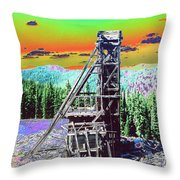 Old Mining Structure Throw Pillow