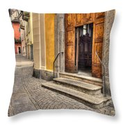 Old Stone Alley Throw Pillow