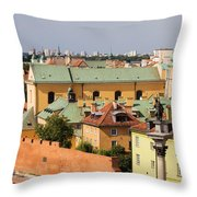 Old Town In Warsaw Throw Pillow