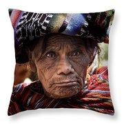 Old Woman Of Chichicastenango Throw Pillow