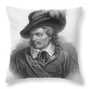 Oliver Cromwell, English Political Throw Pillow