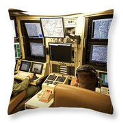 Operators Control Uavs From A Ground Throw Pillow by HIGH-G Productions