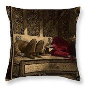 Opium Den Throw Pillow