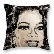 Oprah Winfrey In 2007 Throw Pillow