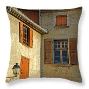 Orange Windows In Provence Throw Pillow