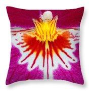 Orchid Closeup Throw Pillow