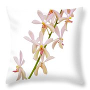 Orchid Panicle Throw Pillow