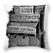 Organ, 19th Century Throw Pillow