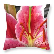 Oriental Lily Named La Mancha Throw Pillow