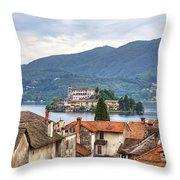 Orta - Overlooking The Island Of San Giulio Throw Pillow