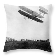 Orville Wright In Wright Flyer, 1908 Throw Pillow