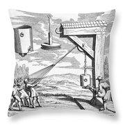 Otto Von Guericke, 1672 Throw Pillow