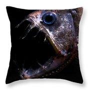 Pacific Viperfish Throw Pillow