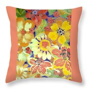 Paints Of Flowers Throw Pillow