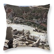 Paliorema Sulfur Mine And Processing Throw Pillow