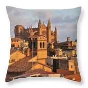 Palma De Mallorca Throw Pillow