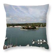 Panoramic Town 1 Throw Pillow