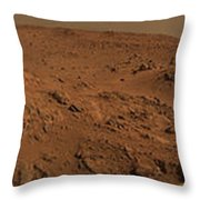 Panoramic View Of Mars Throw Pillow