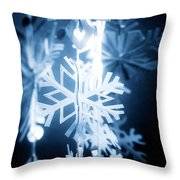 Paper Snowflake Throw Pillow
