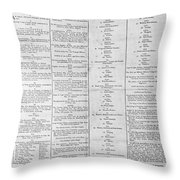 Parade For The Us Constitution Throw Pillow