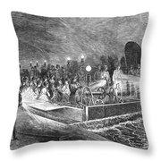 Paris: Sewers, 1869 Throw Pillow