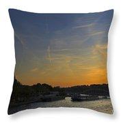 Parisian Sunset. Throw Pillow