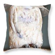Parrot White Throw Pillow