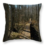 Path Into The Woods Throw Pillow