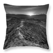 Path To The Sun   Black And White Throw Pillow