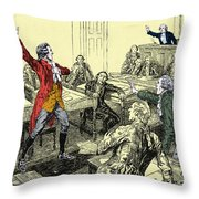 Patrick Henry, Virginia Legislature Throw Pillow