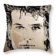 Patrick Swayze In 1989 Throw Pillow