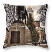 Paul Revere-statue Throw Pillow