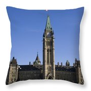 Peace Tower, Parliament Building Throw Pillow